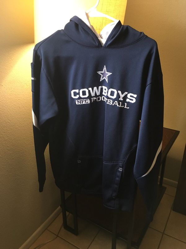 Dallas Cowboys sweater jacket with hoodie.