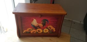 Wooden Bread Box with handpainted front for Sale in Clovis, CA