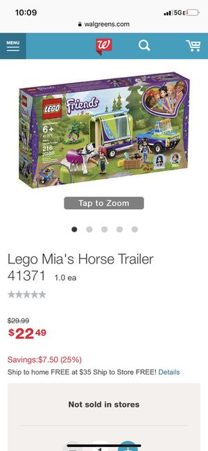 LEGO Friends Mia's Horse Trailer 41371 Building Kit with Mia and Stephanie Mini Dolls 216pc for Sale in Glendale, AZ