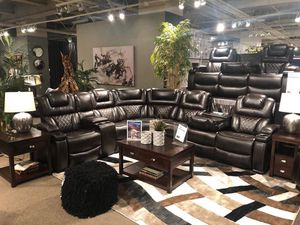 Power reclining sectionals starting @ $1199 $1 down no credit check financing for Sale in Massapequa, NY