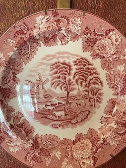 Enoch Woods English Scenery Red Plate for Sale in Katy,  TX