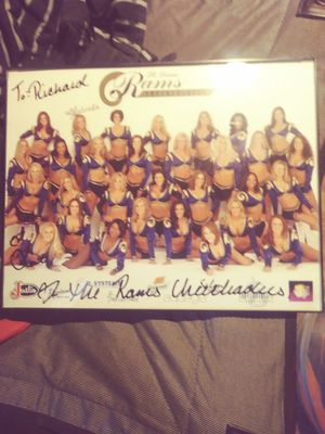 St Louis Rams cheerleader autographed picture for Sale in St. Louis, MO