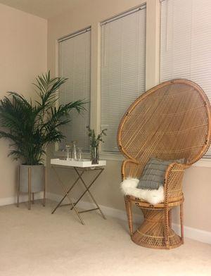 Bohemian Peacock Chair for Sale in Ashburn, VA