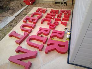 Metal letters for Sale in Chandler, AZ