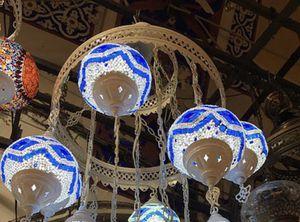 Ottoman Sultan Mosaic Chandelier in 5 Medium Globes for Sale in Miami, FL
