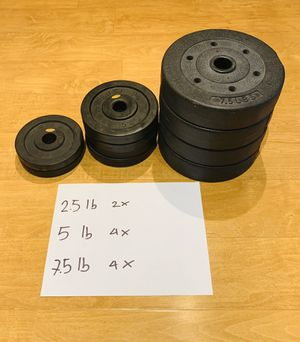 Standard weight plates for Sale in Denver, CO