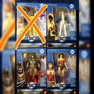DC MULTIVERSE LEX LUTHOR REBIRTH WAVE SET OF 3 BATMAN WONDER WOMAN THE RAY for Sale in Los Angeles, CA