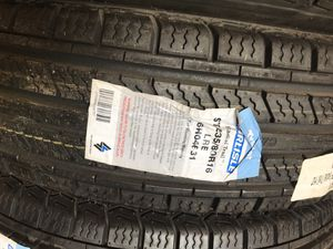One trailer tire Carlisle 235x80-16 10 ply $75 install included you bring wheel to me for Sale in San Bernardino, CA
