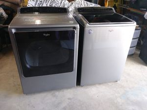 Whirlpool High Efficiency, Chrome Washer & Dryer for Sale in Turbotville, PA