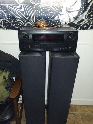 Denon avr-1911 reciever/ 2 klipsch f1 tower speakers for Sale in Denver, CO