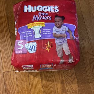 Huggies Little Movers 5 (40 Count) New for Sale in Sudbury, MA