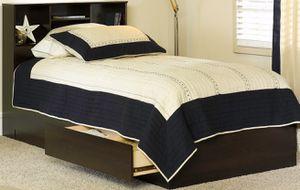 New!! Twin Storage Bed, Bedroom,Bookcase Headboard, Furniture,Bed,Twin Bed,Headboard,-TWIN SIZE for Sale in Phoenix, AZ