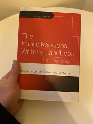 Book, Public Relations writers handbook for Sale in Los Angeles, CA