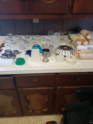 Kitchen ware, glasses, paper cups, plastic ware, etc for Sale in Ocean Pines, MD