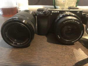 Sony Alpha a6300 Mirrorless Digital Camera with 16-50mm Lens Black Kits, APS C, 24 Megapixels, 4K, Features Hot Shoe Mic Input Swivel/Tilt LCD for Sale in Washington, DC