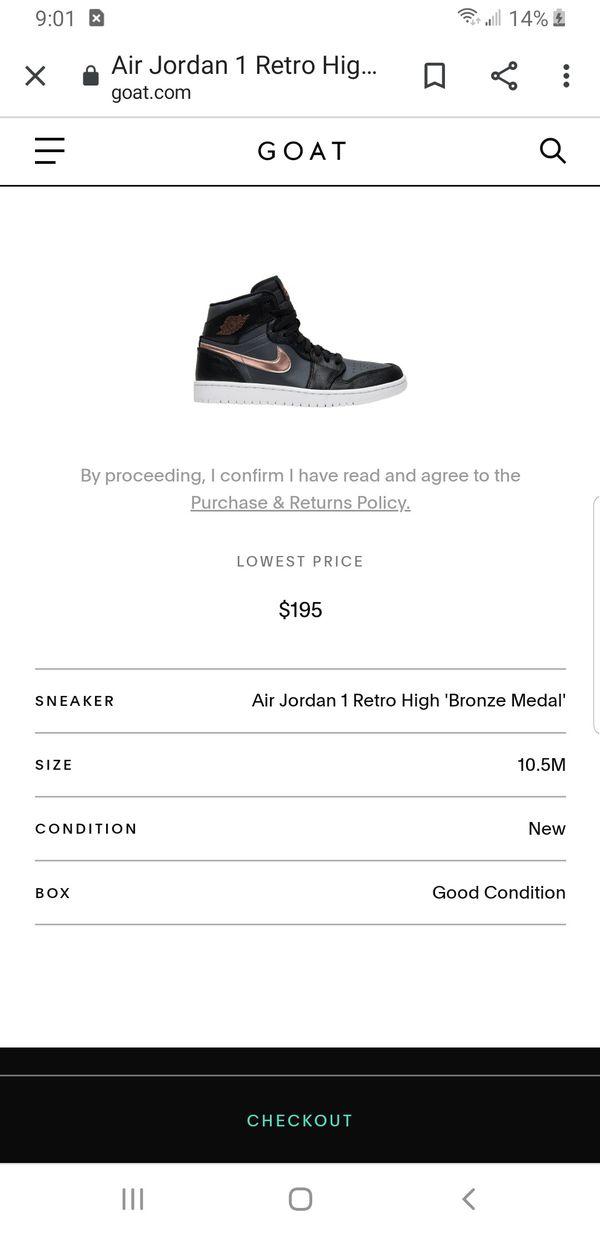 Air Jordan 1 Retro High 'Bronze Medal'