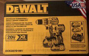Dewalt xr brushless hammer drill combo kit new sealed for Sale in Orlando, FL