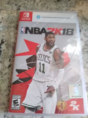 Nba 2018 Nintendo switch game for Sale in Spring, TX