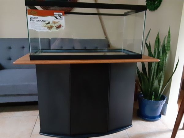 Reptile Tank and Cabinet