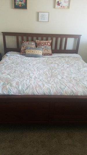 King size mattress and bed frame, brand new for Sale in Tempe, AZ