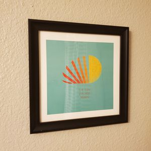 The sun will rise again graphic print, framed for Sale in Laguna Beach, CA