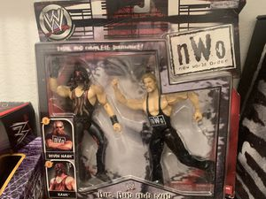 WWE NWO Big, Bad, and Mad Kane and Kevin Nash Action Figures for Sale in Milpitas, CA