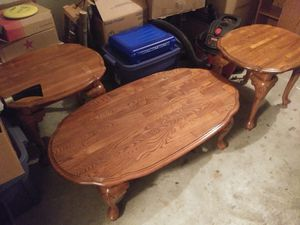Oak coffee and end table set for Sale in Columbus, OH