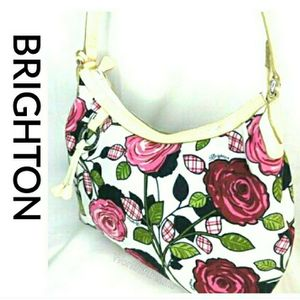Brighton Perkins Rose Flowers Bag Purse white pink for Sale in Baytown, TX