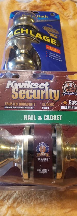 KWIKSET Hall & Closet Door Knob Set Brand new, factory sealed package! or BOTH FOR $15! (Schlage bed & bath lock also for sale. See my other items.) for Sale in South Brunswick Township, NJ