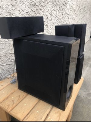 Stereo system LG wired surround sound with subwoofer and 5 speakers for Sale in Redondo Beach, CA