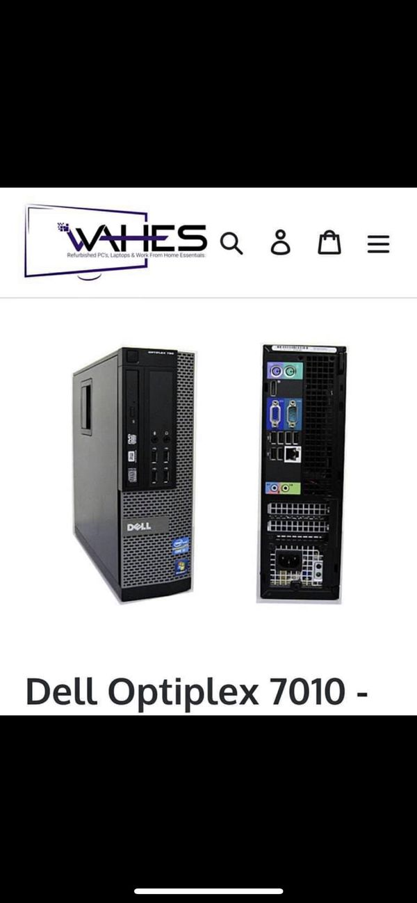Dell Desktop Tower (CPU) Optiplex 7010 - With Wifi!!! - Windows 10