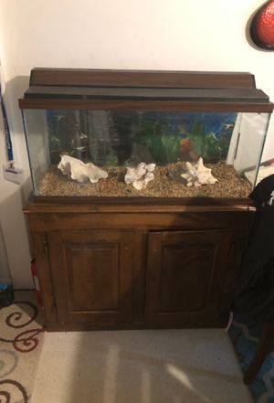 Fish tank with stand tank 12inx17inx36in make offers for Sale in Henrico, VA