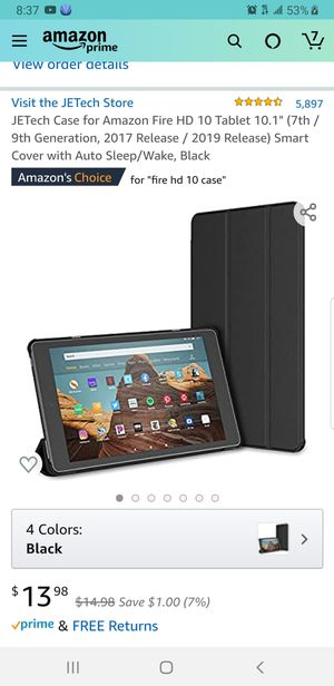 """JETech Case for Amazon Fire HD 10 Tablet 10.1"""" (7th / 9th Generation, 2017 Release / 2019 Release) for Sale in Oakland, CA"""