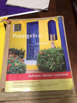 Pre Algebra 5th Edition By Aufman, , Barker , Lockwood for Sale in Montebello, CA
