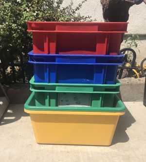 Colorful storage containers for Sale in Whittier, CA