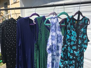 Four 1X 2X 20W dresses new and unworn, Denim 24-7 and Liz Lange Plus Size for Sale in Tacoma, WA