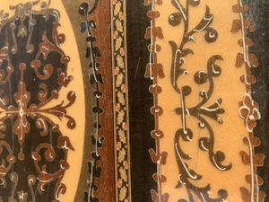 Vintage Wood Inlaid Marquetry Panel for Sale in Montclair, CA