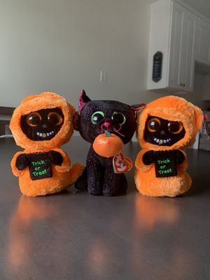 3 Halloween beanie babies for Sale in Montclair, CA