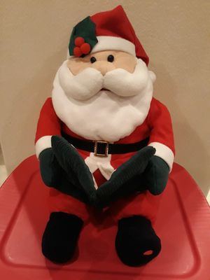 ANIMATED STORY TELLING X-MAS SANTA CLAUS W/ NEW BATTERIES (MOUTH MOVES & CHEEKS LITE UP) for Sale in Corona, CA