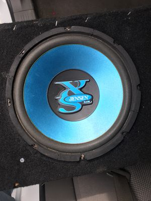 2 JENSEN XS10W SUBWOOFERS IN A CARPETED CABINET for Sale in San Diego, CA