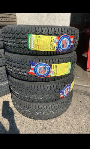 BRAND NEW TIRES LT 235/75r15 FEDERAL COURAGIA A/T FOR SALE ALL 4 TIRES $399 WITH FREE MOUNT AND BALANCE for Sale in San Jose, CA