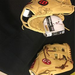 Wilson and Rawlings baseball gloves for Sale in Ontario,  CA