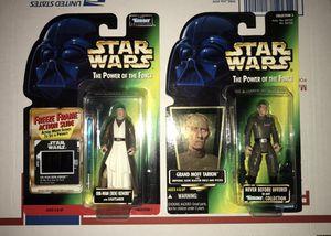 1996 1997 Kenner Star Wars action figures Obi-Wan Kenobi Grand Moff Tarkin retro collectibles for Sale in Kenosha, WI