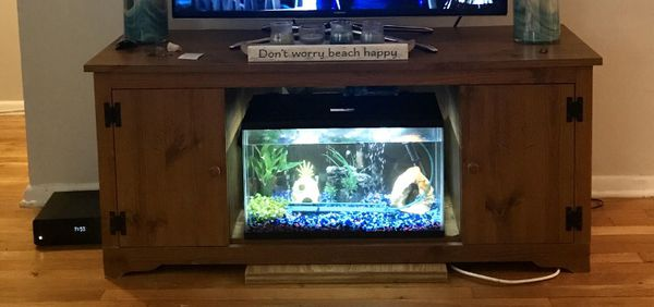 TV10 Gallon Fish Tank - Aquarium includes filter, heater, lid with LED lights