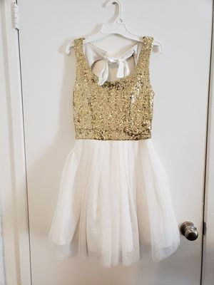 Gold and white dress for Sale in Fontana, CA