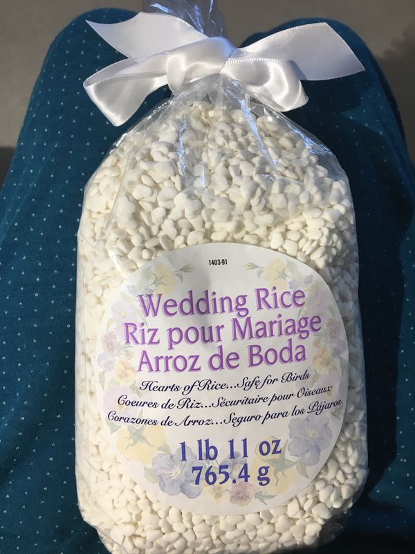 Heart shaped wedding rice