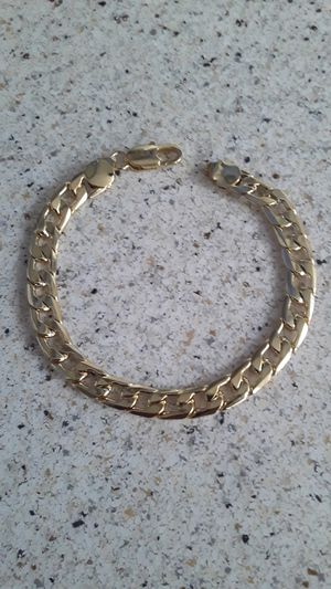18K Gold over silver Charm chain bracelet. for Sale in San Lorenzo, CA