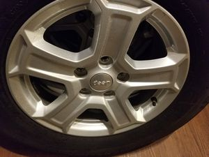 2019 jeep wrangler (5) tires and wheels 245/75/R17 Michelin for Sale in Carrollton, TX