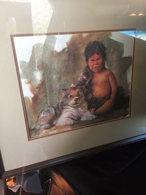 Great Native American picture framed with glass for Sale in Austin, TX