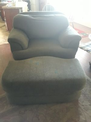 Large Chair, Ottoman Sage for Sale in Apple Valley, CA